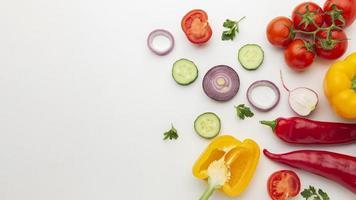 grönsaker arrangemang med kopia utrymme foto
