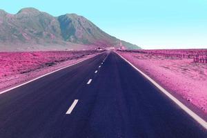 färgglada retro vaporwave landskap foto