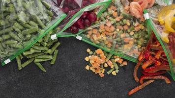 sortiment fryst matbord. sammansättning fryst matbord foto