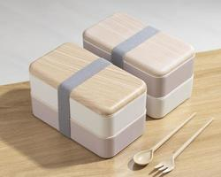 sammansättning av japansk bento-låda foto