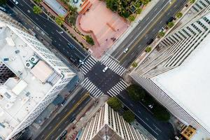 kreativ flygbild stadsbild. kreativ komplex ovanifrån foto