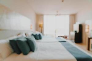abstrakt suddighet och defokuserad sovrumsinredning för bakgrund foto