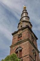 detalj av vår frälsares kyrka i Köpenhamn, Danmark foto