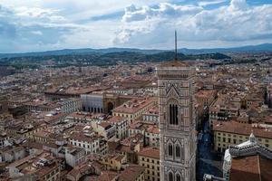 utsikt över Florens från Santa Maria del Fiore-taket foto