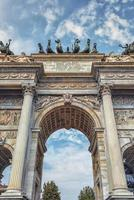 Arco della tempo i Milano, Italien foto