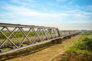 arv stål bro vid huwei township, yunlin county, taiwan foto