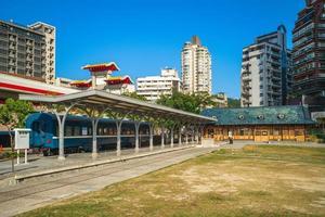 Xinbeitou historiska station i Taipei, Taiwan. foto