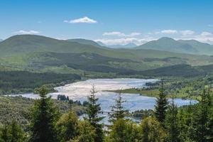 landskap av loch eil i Skottland, Storbritannien foto