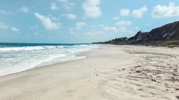 kusten av en strand i Brasilien foto