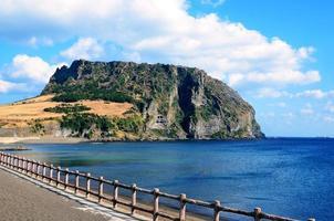 vulkanen ilchulbong. Jeju Island, Sydkorea foto
