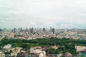 bangkok stadshorisont i Thailand foto