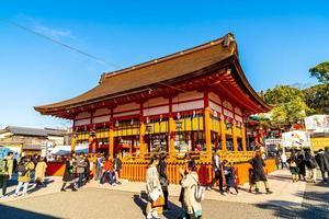 Kyoto, Japan - 11 januari 2020 - Turism vid Fushimi Inari-helgedomen i Kyoto, Japan. foto