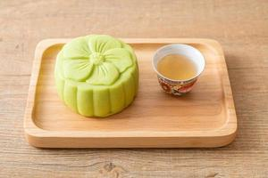 kinesisk månekaka grönt te smak foto