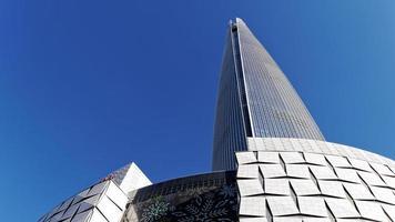 lotte world tower, seoul city, sydkorea. januari 2018 foto