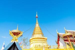 wat phra that doi kham - det gyllene bergets tempel foto