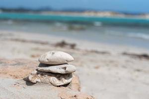 ses illetes strand i formentera, balearerna i Spanien. foto