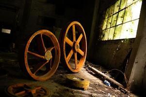 övergav fabriken sin inredning och vad som återstår av den foto