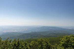 toppen av berget amiata och dess panorama foto