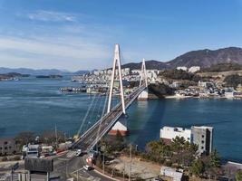 dolsan bridge. yeosu stad. Sydkorea foto