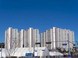 olimpyc by. Gangneung City, Sydkorea foto
