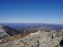 landskap i seoraksan nationalpark, Sydkorea foto