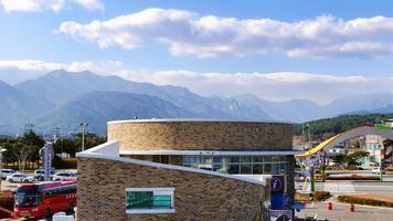 turistinformationscenter i sokcho stad, Sydkorea foto