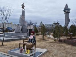 skulpturer parkerar in i centrala Sokcho stad. Sydkorea foto