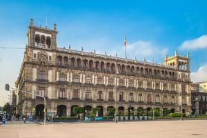 gammalt stadshus i mexico staden nära zocalo foto