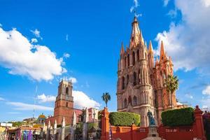 katedralen i San Miguel de Allende i Bajio Mexico foto