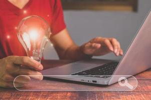 idéer för att hitta idéer online 3d illustration foto