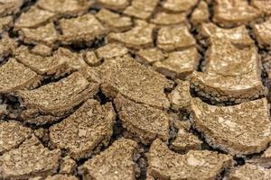 begreppet naturlig torka av miljön på jordens torra jord, krackad mark med jorderosion blir röd som inte är jordbruks foto