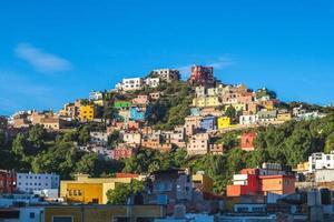landskap av guanajuato stad i mexico foto