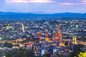 landskap av san miguel de allende i mexico foto