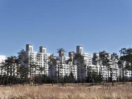 stora byggnader i gangneung city, Sydkorea foto