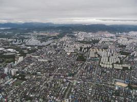 utsikten till seoul city från luften. Sydkorea foto