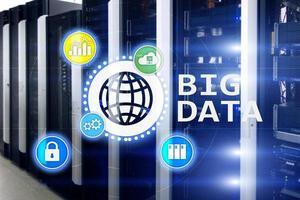 Big Data analysera server. internet och teknik. foto