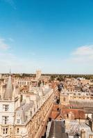 hög vinkel syn på staden Cambridge, Storbritannien foto
