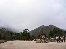 människor i Seoraksan nationalpark, Sydkorea foto