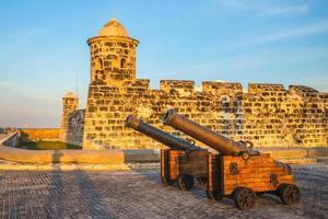 San Salvador de la Punta fästning i Havanna, Kuba foto