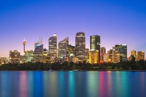 sydneys centrala affärsdistrikt i Australien foto