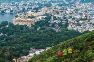 utsikt över udaipur i rajasthan, indien foto
