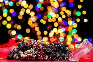 juldekoration, jul och nyårsferie bakgrund foto
