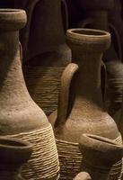 antika romerska terrakottavaser foto
