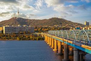 dongjak bridge på seoul i sydkorea foto