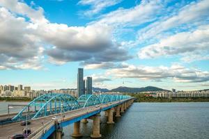 Dongjak Bridge i Seoul, Sydkorea foto