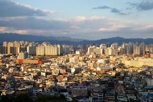 stadsbild av daegu-staden i Sydkorea foto