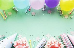 Grattis på födelsedagen och fest bakgrund foto