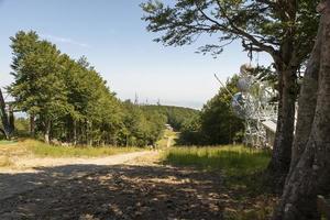 väg för att komma till toppen av berget amiata foto