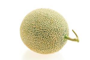 melon på vitt foto