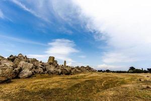 landskap vid Selinunte i Sicilien, Italien foto